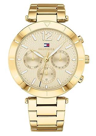 Tommy Hilfiger Reloj Multiesfera para Mujer de Cuarzo con Correa en Acero Inoxidable 1781878: Amazon.es: Relojes