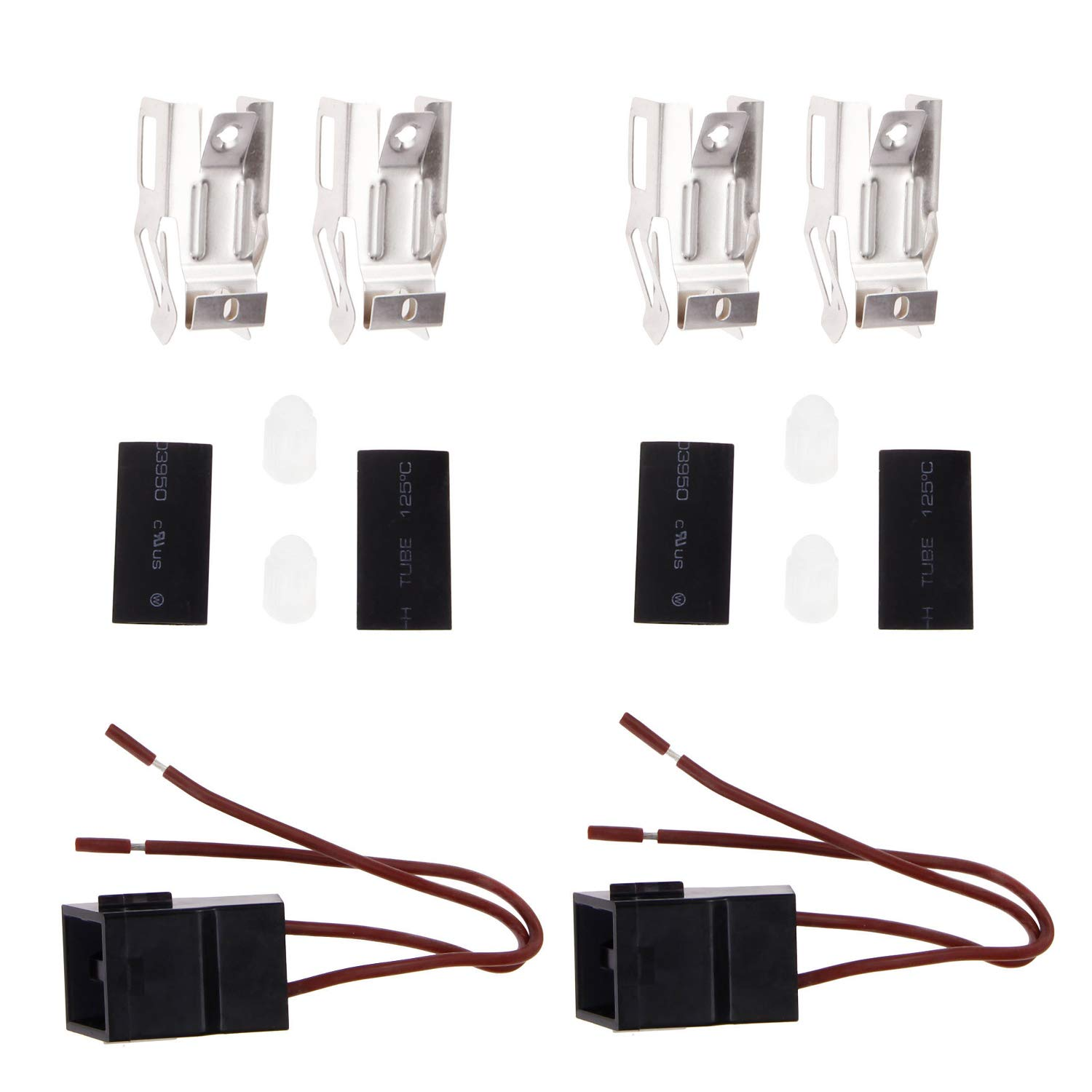 Range Surface Burner Receptacle Kit for ERR117 Whirlpool Kenmore Range/Cooktop/Microwave Oven Combo Replaces 330031, 5303935058, 814399, WB17X5091, W10116799(2 Pack)