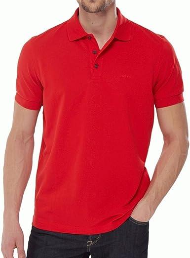 Hugo Boss Ferrara Polo Rojo 645 rojo rosso Small: Amazon.es: Ropa ...