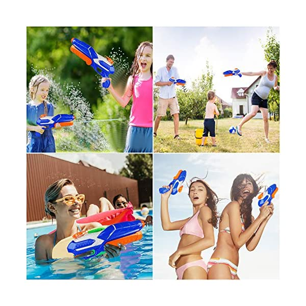 MOZOOSON Pistola ad Acqua Giocattolo per Bambini, Potente Pistola ad Acqua con capacità di umidità 650ML   Pistola a… 4 spesavip
