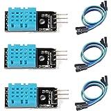 HiLetgo 3個セット DHT11温度センサー モジュール湿度センサーモジュール デュポンラインと付属 Arduinoと互換