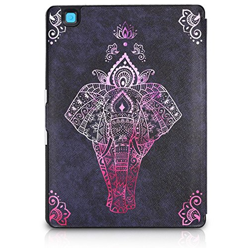kwmobile Cover case for Kobo Aura ONE with stand - Ultra slim case made of synthetic leather Elephant Sketch in dark pink anthracite by kwmobile (Image #3)