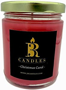 3R Candles Christmas Carol Scented Candle Soy/Paraffin Wax Glass jar - Fall & Winter Home Decor Gifts for Holiday & Christmas Season - Essential Ideas - with Cinnamon Clove Nutmeg