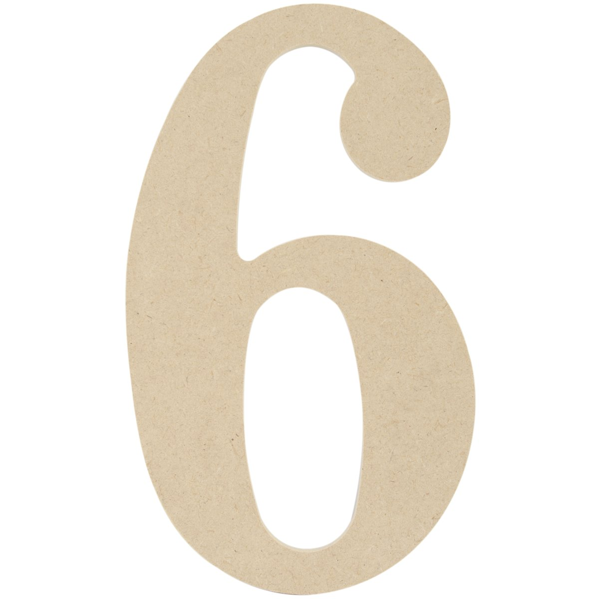 MDF Classic Font Wood Letters & Numbers 9.5-6 Mpi