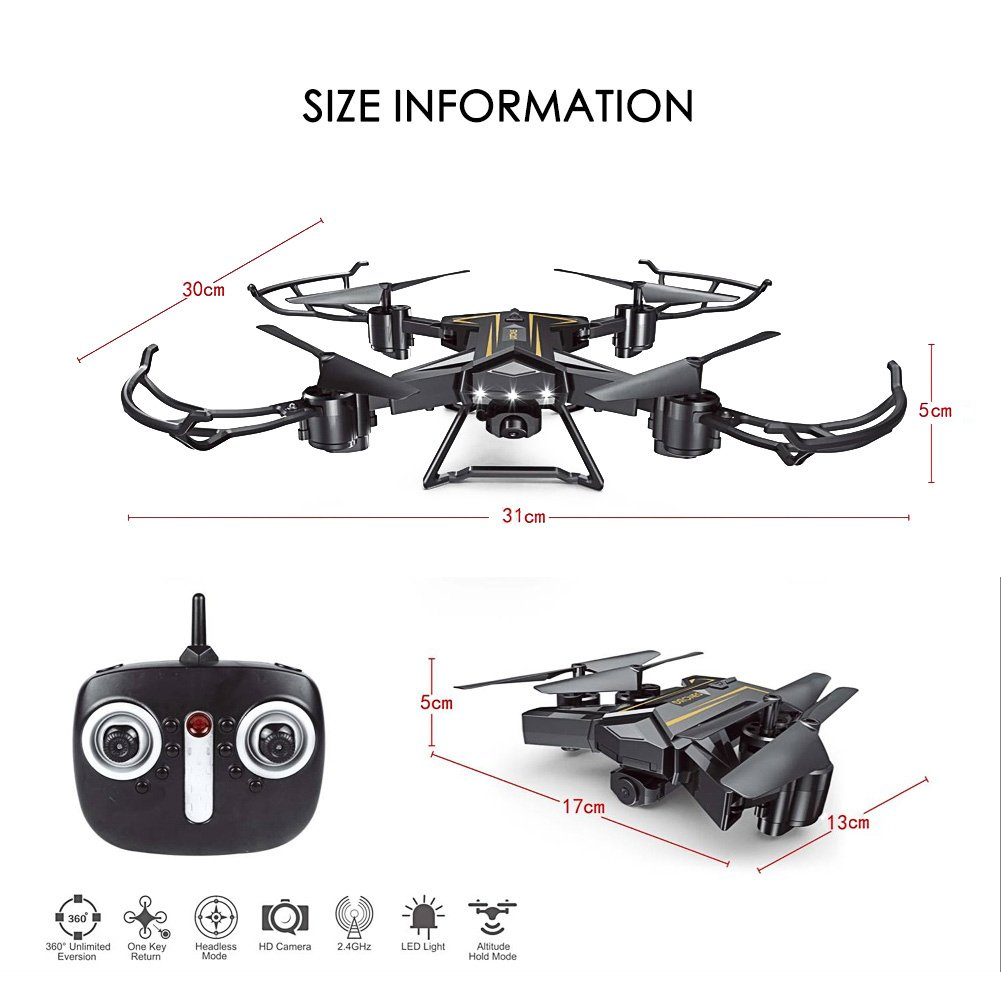 amazon com your supermart foldable wifi fpv drone rc helicopter