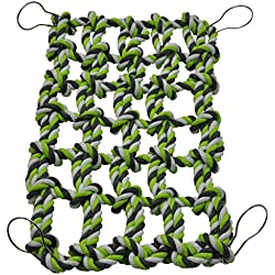 Niteangel Small Animal Activity Toy, Rat and Ferret Cotton Rope Nets (Green)