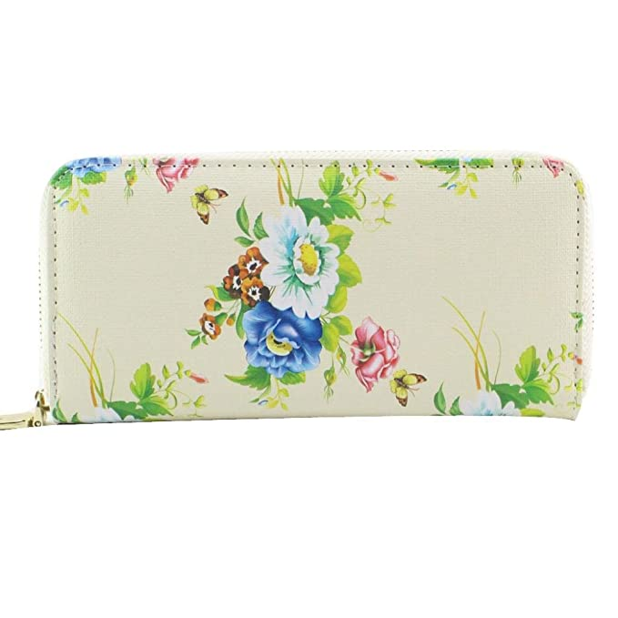Amazon.com: gbsell Lady mujeres floral cartera Monedero ...