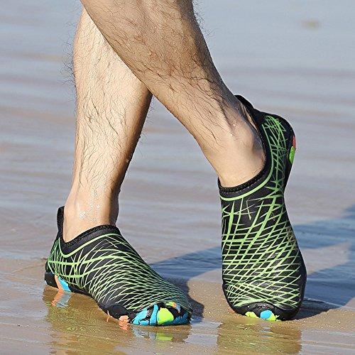 BUIMIN Chancletas Zapatillas Adolescente-Unisex Atractiva Transpirable Para Playa Casual Moda Verano Color Azul/Verde/Rosa Oscuro/Blanco Talla 36/37/38/39/40/41/42/43/44 (43, Verde)