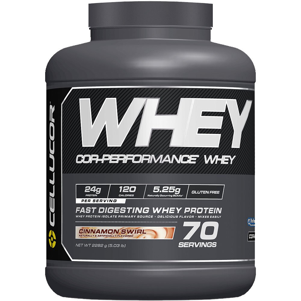 CELLUCOR COR-Performance Protein Powder Cinnamon Swirl   100% Whey Isolate   Gluten Free + Low Fat Post Workout Muscle Growth Drink for Men & Women   70 Servings by Cellucor