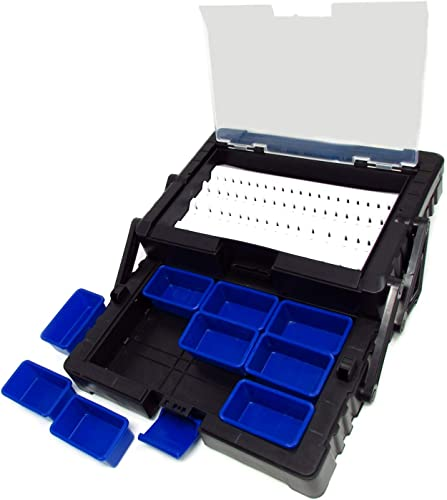 Cantilever Toolbox for Organizing Rotary Tool Bits and Burrs, 13 inch