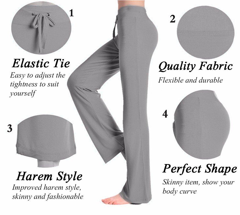 CFR Women's Harem Yoga Pants High Waist Soft Modal Lycra Fitness Leggings For Sports Dancing Black,M UPS Post by CFR (Image #7)