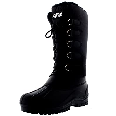 Amazon.com | Polar Womens Quilted Waterproof Hiking Duck Mid Calf ...