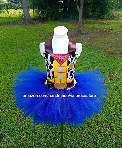 c1d5edb15 Toy Story Woody Cowboy Inspired Tutu Dress Costume Pageant Birthday  Halloween Girls Newborn Infant Toddler Baby Outfit Onesie Shirt Bow Party  Princess Kids ...