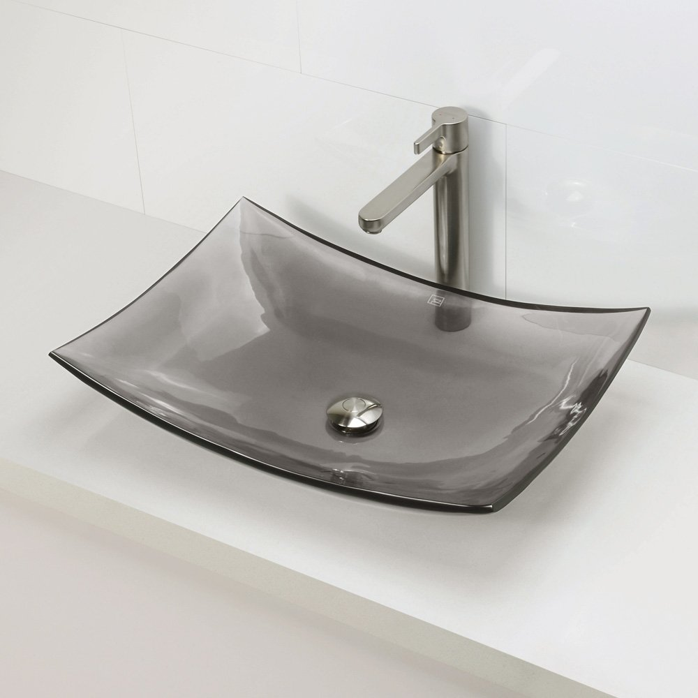 DECOLAV 2800 SHA Darya Incandescence Rectangular Vessel Sink, Shadow      Amazon.com