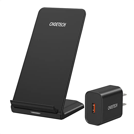Amazon Com Choetech Wireless Charger Qi Certified 10w Max Fast Wireless Charging Stand With Ac Adapter Compatible Iphone Se2020 11 11 Pro Max Xs Max Xr Xs X 8 Plus Galaxy Note 10 S20 S20 S10 S10 Plus S10e