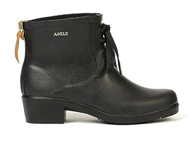 3cd0478f347ab Aigle Womens Miss Juliette Bottillon Lacet Rubber Boots  Amazon.co.uk   Shoes   Bags