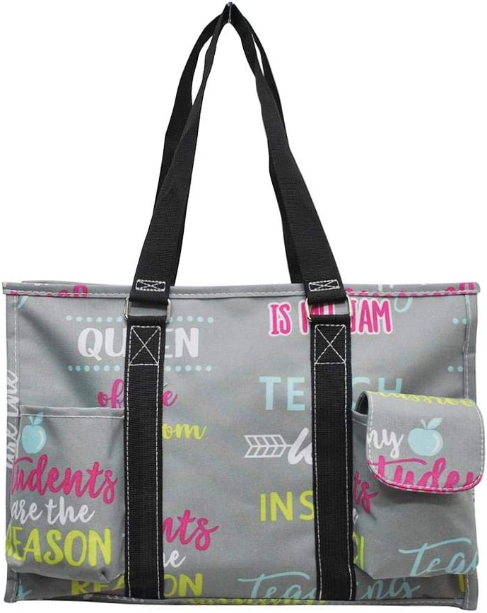 NGIL All Purpose Organizer Medium Utility Tote Bag 2019 Collection (Teacher Black)