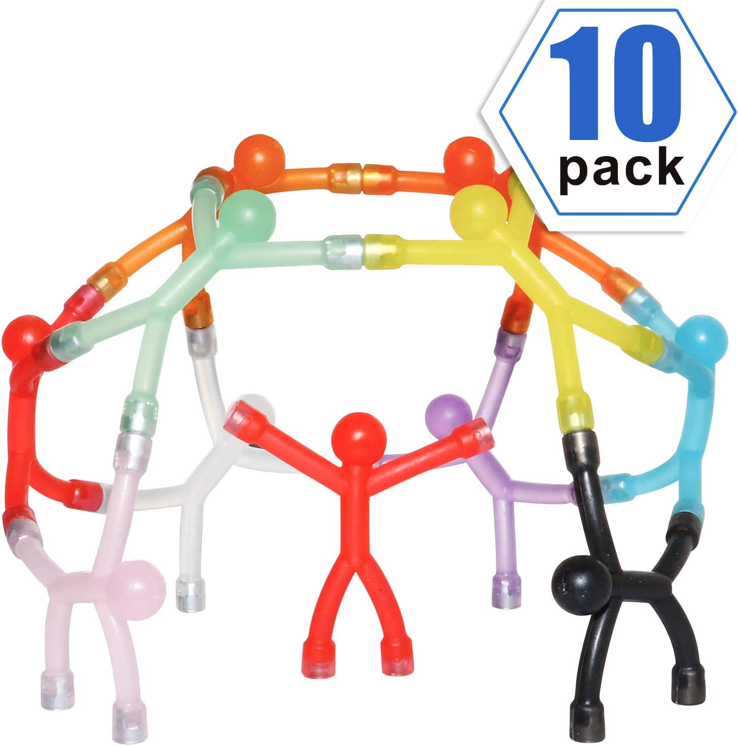 Colorful Humanoid Magnet With Magnets on their hands and feet perfect for Hobbies, Crafts, Science,Refrigerator, Door, Office,Pack of 10