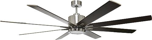 HOMEnhancements METRO 8-blade 66 in. Brushed Nickel Ceiling Fan
