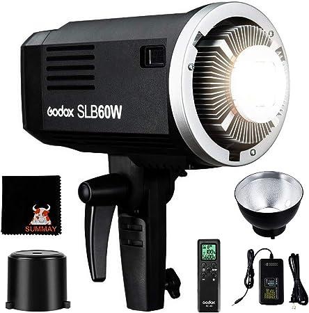 Todo para el streamer: GODOX SLB60W Luz LED Video 60W Foco Led 5600K Litio batería Bowens Mount para fotográfico Estudio Video Youtube Video entrevistas(SLB60W LED Light)