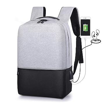 Mochila Antirrobo USB Mochila de seguridad con cargador,Mochila para ordenador portátil 15.6 Mochila Bolsa