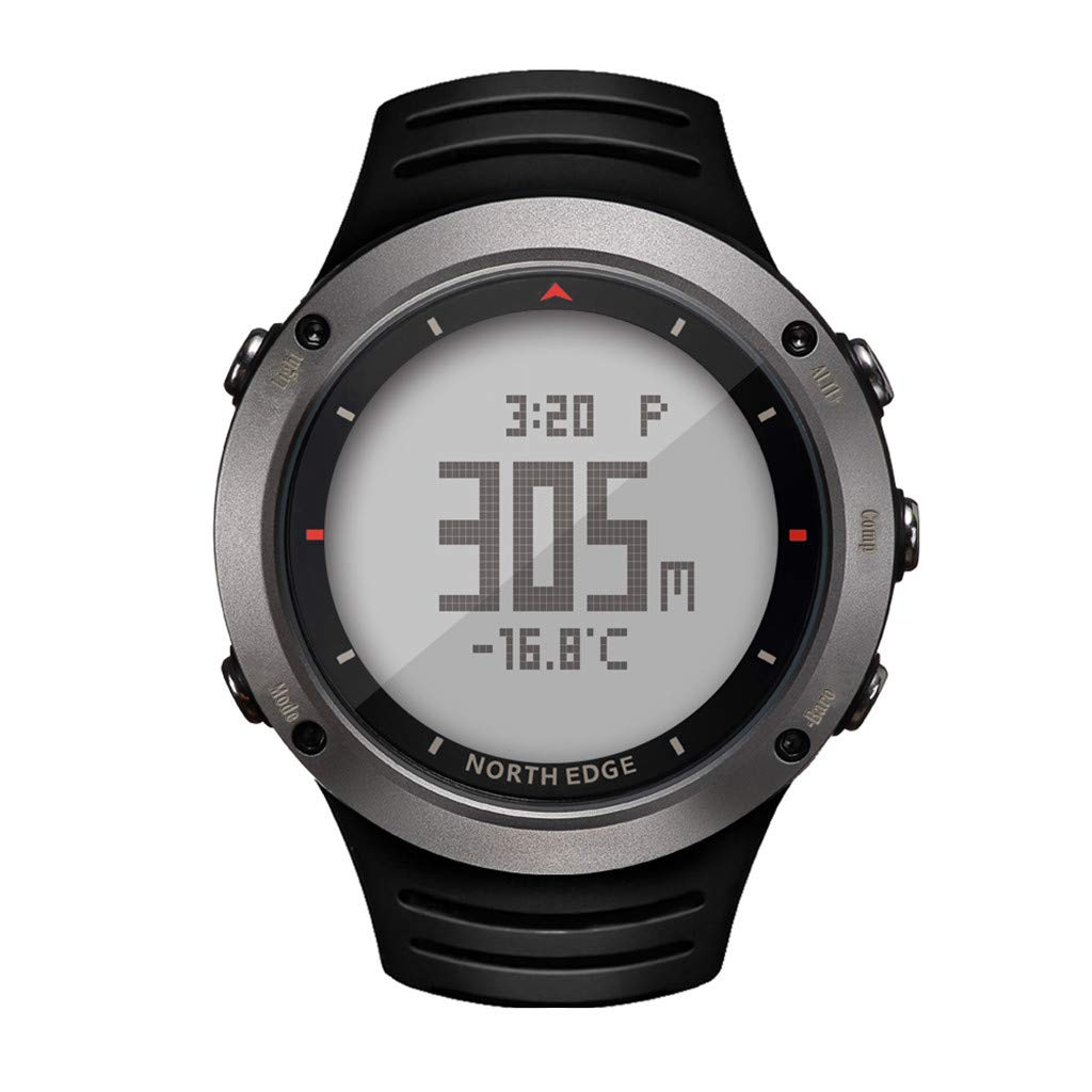 Hot Sale! NDGDA ☼ Outdoor Watch North Edge Altay Sports Smart Compass Wrist Back Light for Fishing Hiking