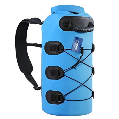 TOMSHOO Bolsas Estancas Impermeable 20L Bolsa Seca Bolsa para Material para Playa Rafting Navegación Kayak Bucear Canotaje Camping