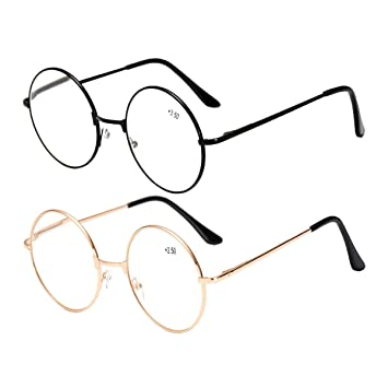 0bf82518729b 2 Pairs Reading Glasses +2.50 Mens Womens Everyday Use Readers Eyewear  Classic Retro Eyeglasses Metal