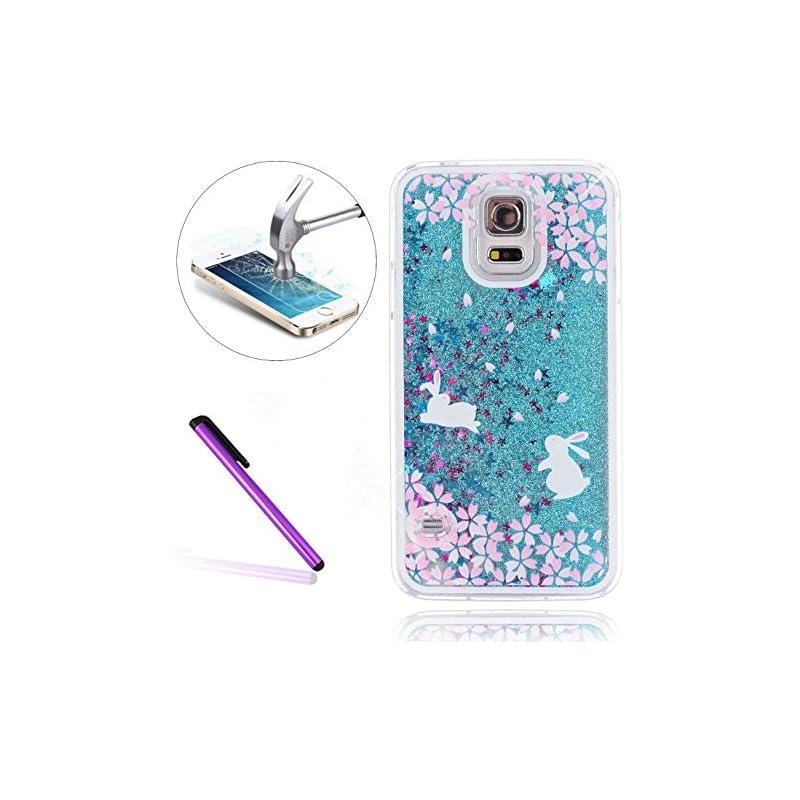 Galaxy S5 Case,ISADENSER 3D Glitter Flow