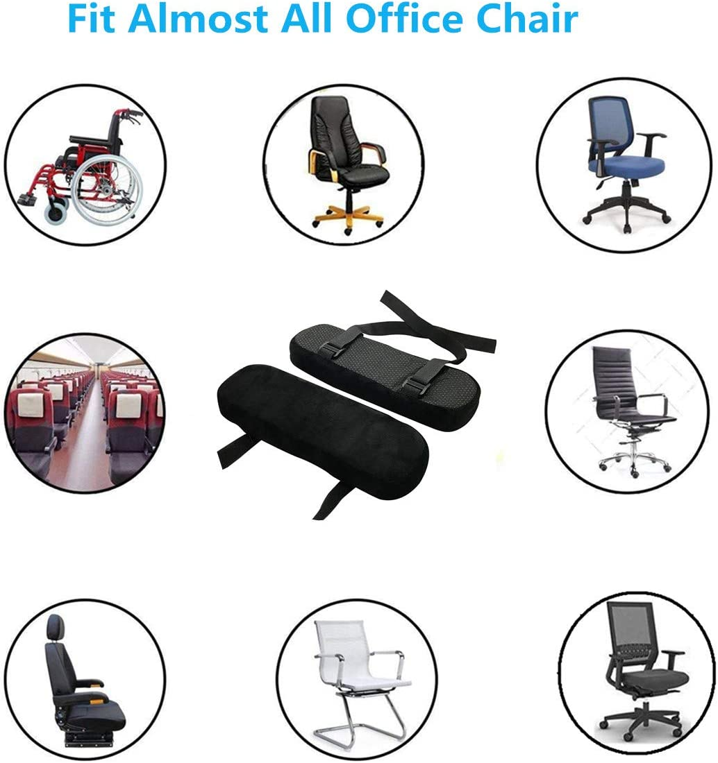 SOELAND Chair Armrest Pads, Memory Foam Computer Chair Armrest Pads Covers for Elbows and Forearm Pressure Relief, Universal Chairs Arm Rest Covers for Home or Office and Wheel Chair (Medium): Kitchen & Dining