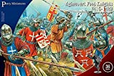 Perry Miniatures - Set AO 60 Agincourt Foot Knights 1415-29 Plastic 28mm Toy Soldiers Set