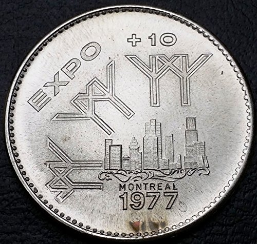 Unbranded 1977 MONTREAL EXPO TOKEN MAN AND HIS WORLD EXPO DOLLAR GREAT CONDITION