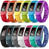 iBREK Compatible with Garmin Vivofit 2 Replacement Bands with Metal Clasp for Women Men Small Large(No Tracker)(Small (6.2-8.2 in))