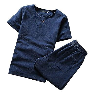OcEaN Activewear - Chándal para Hombre, Manga Corta, algodón, Lino ...