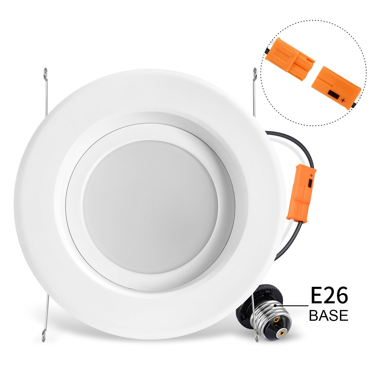 LVWIT LED 6'' Retrofit Dimmable Downlight 4000K Neutral White 1100 Lumens, 100W Equivalent 5 Year Warranty(4 Pack) by LVWIT (Image #5)