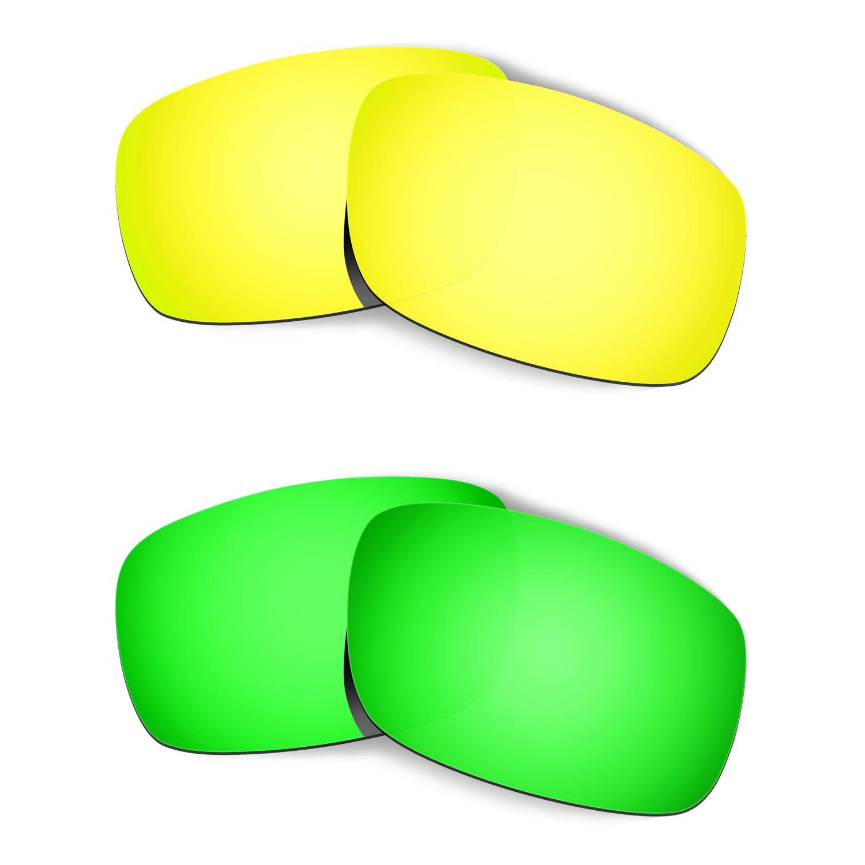 Hkuco Mens Replacement Lenses For Oakley Crankshaft 24k Fuse Box Manual Gold Emerald Green Sunglasses Clothing