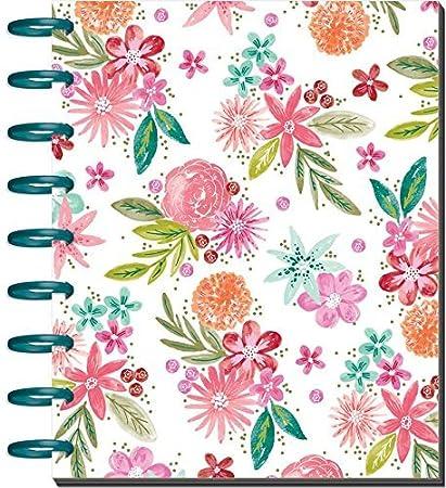 Maggie Holmes Me & My Big Ideas Agenda mensual de Happy Planner, me &, planifica 365 Eventos, White/Floral, Estándar
