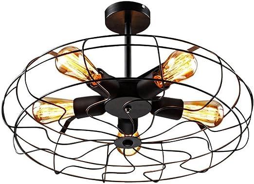Retro Creativo Lámpara de techo antiguo Ventilador techo diseño ...