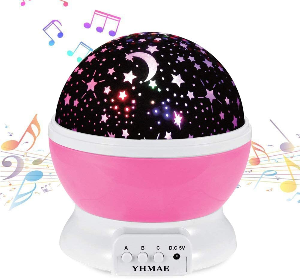 YHMAE Music Night Light Projector Lamp Baby Star Projector