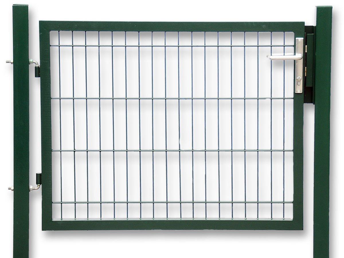 Gartentür zum Doppelstabmattenzaun grün Höhe 140 cm Breite 100