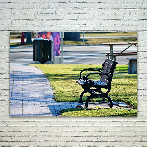 Westlake Art Park Bench - 12x18 Poster Print Wall Art - Modern Picture Photography Home Decor Office Birthday Gift - Unframed 12x18 Inch (8907-5A0F2) from Westlake Art