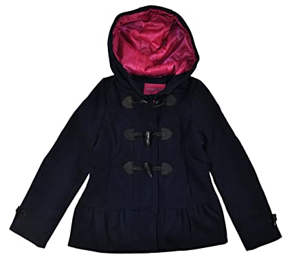 Amazon.com: London Fog Big Girls' Faux Wool Coat with Toggles ...