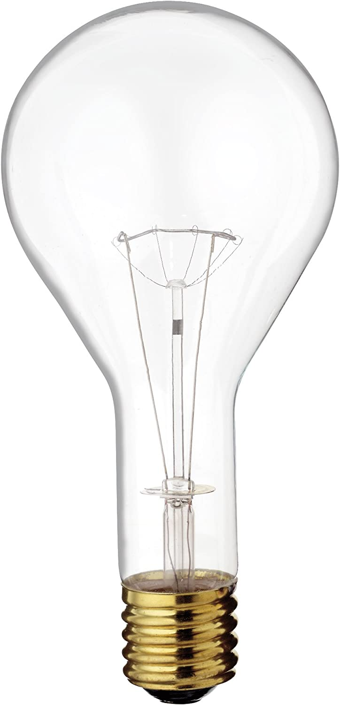 Satco S4961 130V 300 Watt PS35 Mogul Base Light Bulb, Clear