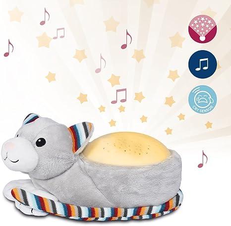 Zazu - Proyector infantil de estrellas con música, Kiki el gatito ...