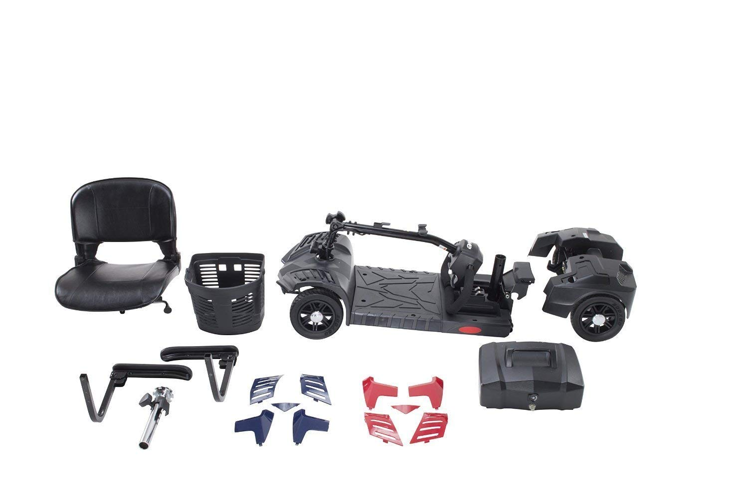 Drive Medical Spitfire Scout 4-EXT 4 Wheel Travel Power Scooter with Extended 15 Mile Range Battery by Drive