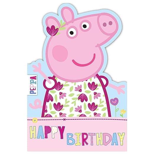 Gemma Internacional Peppa Pig Feliz Cumpleaños Tarjeta ...