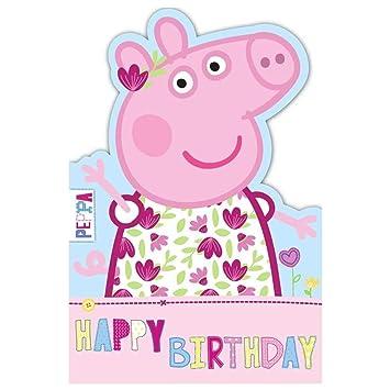 Amazon.com: GEMMA International Peppa Pig – Tarjeta de ...