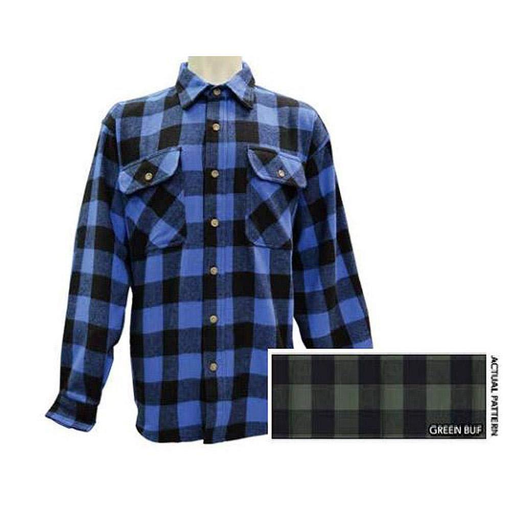 Stillwater Supply Co Brawny Buffalo Plaid Shirt 10161BUFF Green Buffalo