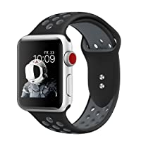 XIHAMA Watch Band Compatible with Apple Watch 42mm 44mm and 38mm 40mm, Mesh Silicone Sports Replacement Strap for Apple Watch Series 4/3/2/1, Nike+, Edition, Hermes