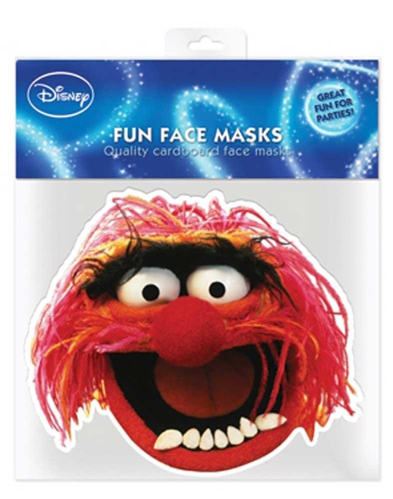 Muppets Animal - Papp Maske, aus hochwertigem Glanzkarton mit Augenlöchern, Gummiband - Grösse ca. 30x20 cm empireposter